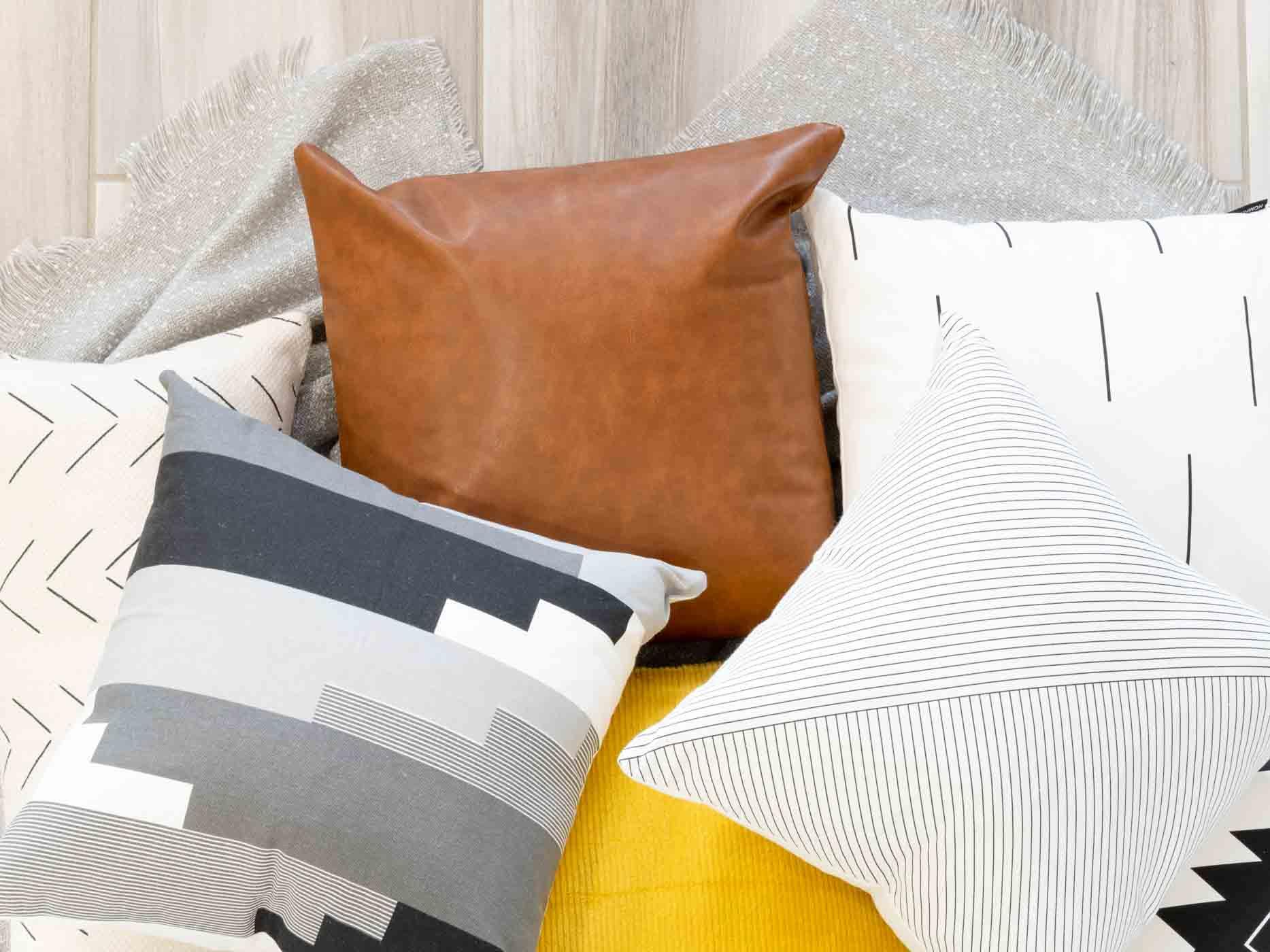 decorative throw pillows on the floors
