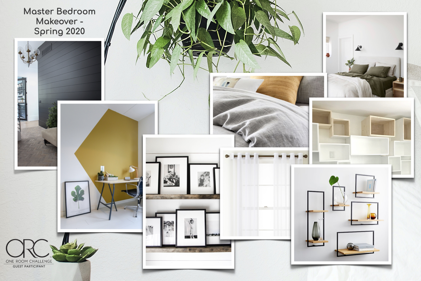Master bedroom makeover mood board.