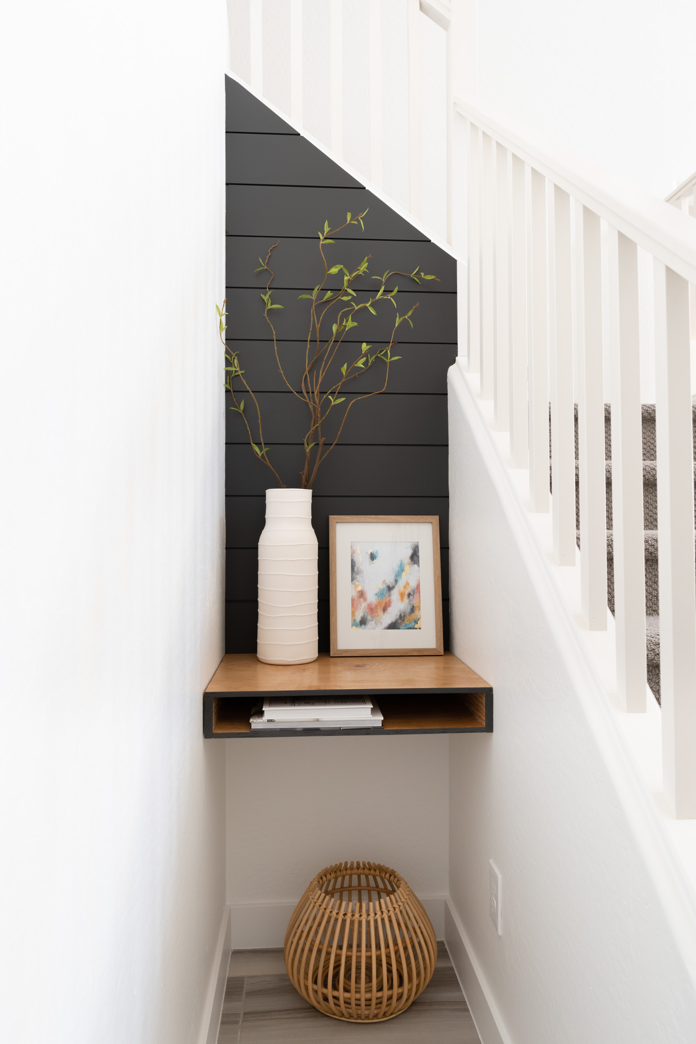 Bold design shiplap wall with pocket deck reveal